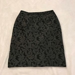 Banana Republic Lace Straight Skirt